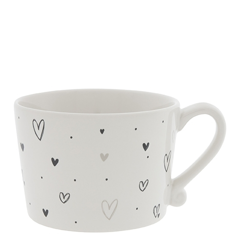 Bastion Collections große Henkeltasse Hearts overall